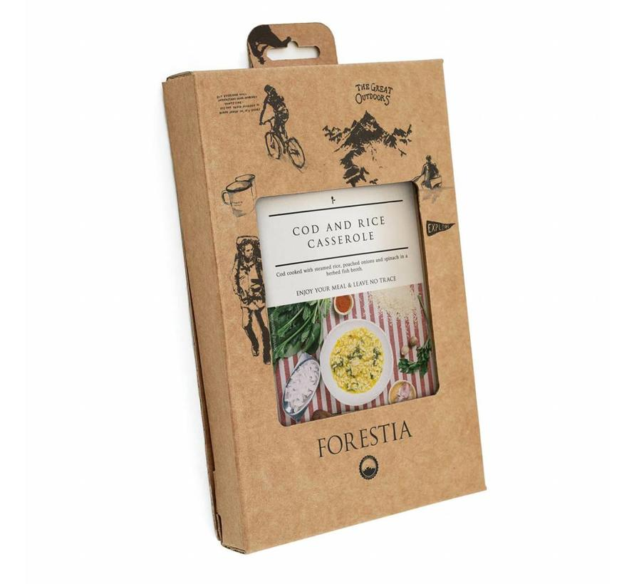 Forestia Self Heating maaltijd Cod and Rice Casserole (met warmtezak)