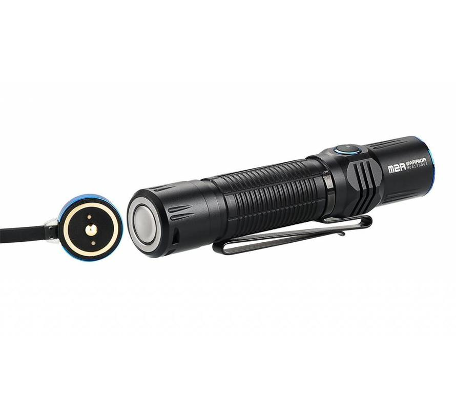 Olight M2R Warrior Rechargeable Dual Switch Tactical LED Flashlight (1500 lumen)
