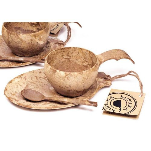 Kupilka Kupilka Kadoset - mok + bord + lepeltje (bruin)