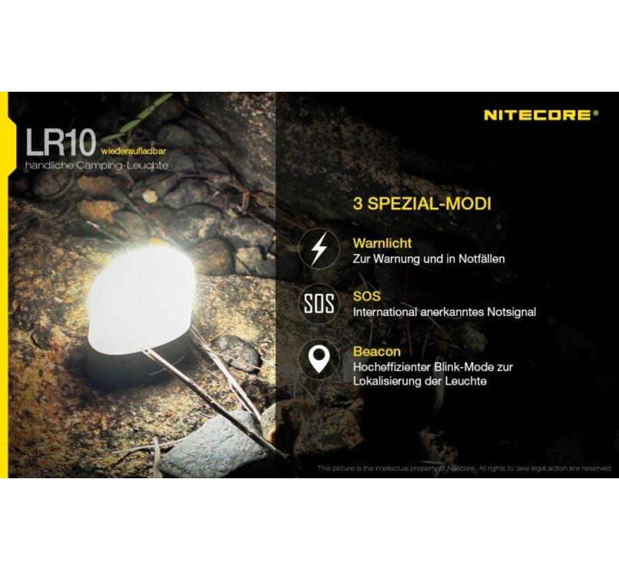 NiteCore LR10 Pocket Camping Lamp (250 lumen - USB oplaadbaar)