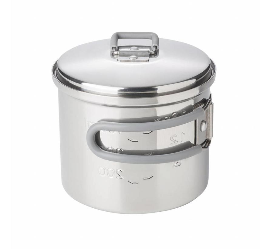 Esbit RVS kookpannetje 625 ml (met deksel)