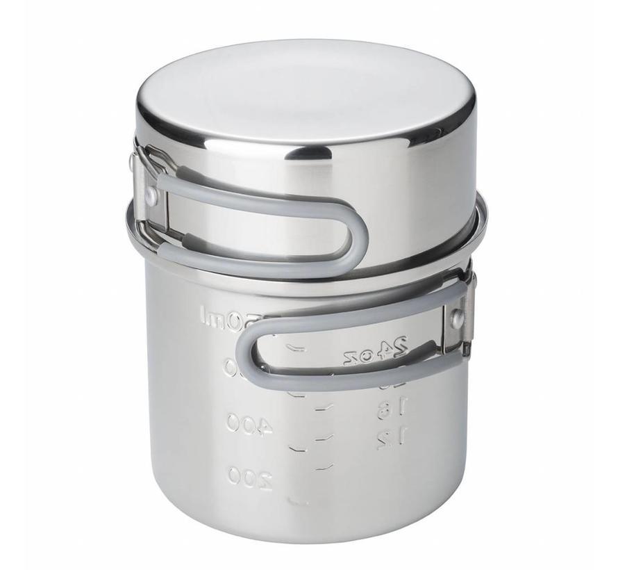 Esbit RVS kookpannetje 1000 ml (met deksel)