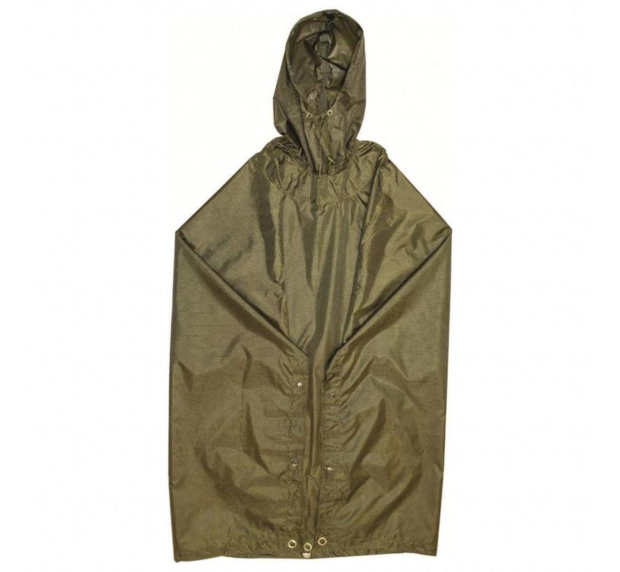 Pro-Force Hooded Poncho Adventure 200 x 145 cm (Olijfgroen)