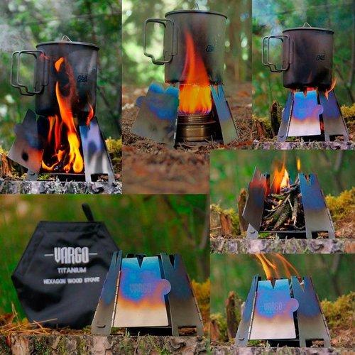 Vargo Vargo Hexagon Titanium Woodstove (houtvuurkoker)