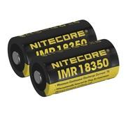 NiteCore NiteCore IMR 18350 Duo-Pack Li-ion oplaadbare batterij (3.7V 700mAh)