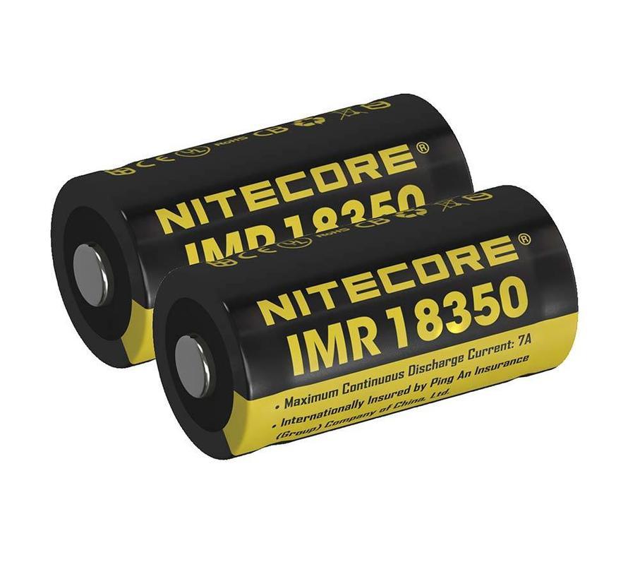 NiteCore IMR 18350 Duo-Pack Li-ion oplaadbare batterij (3.7V 700mAh)