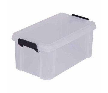 DENK VOORUIT Kunststof opbergbox met deksel (6 liter)