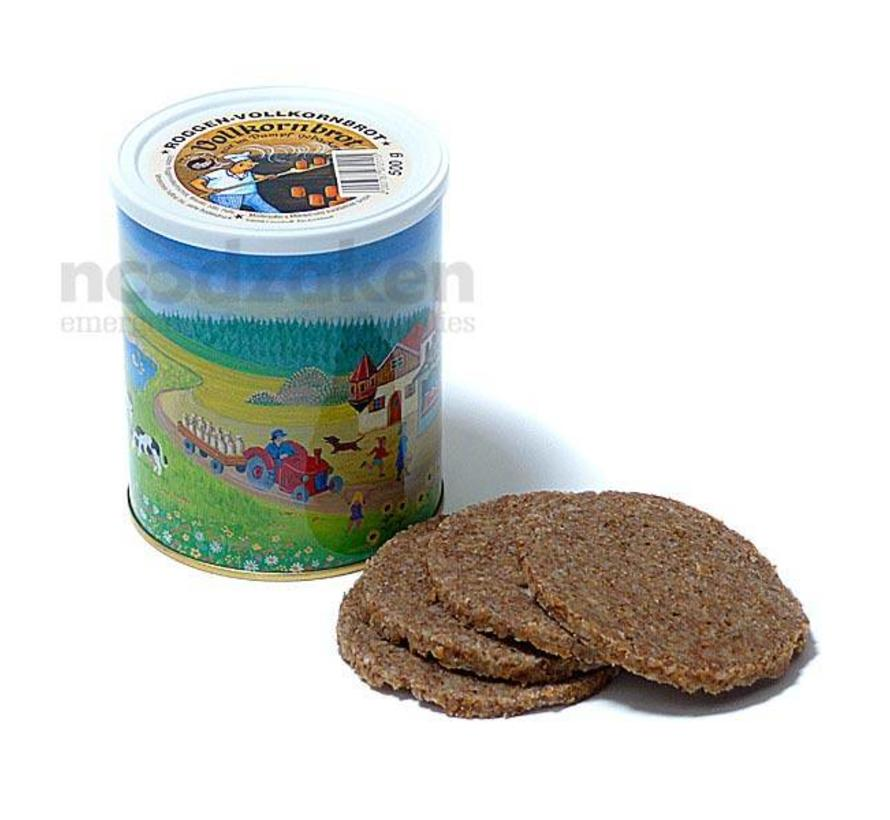 Volkorenbrood-in-blik 500g (ingeblikt brood)