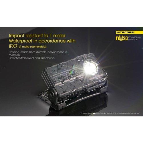 NiteCore NiteCore NU20 LED-hoofdlamp (360 lumen)