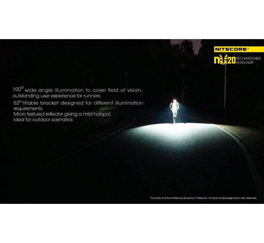 NiteCore NU20 LED-hoofdlamp (360 lumen)