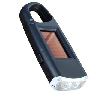 POWERplus Powerplus Viper led-zaklamp (op zonne-energie met karabijnhaak)