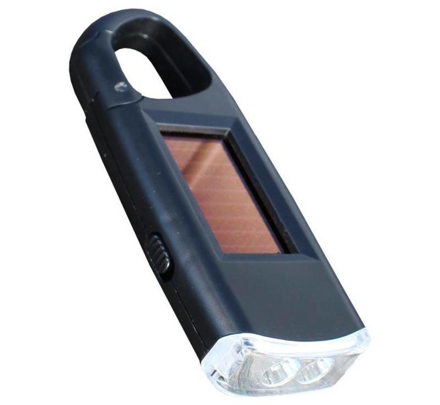 Powerplus Viper led-zaklamp met karabijnhaak (oplaadbaar met zonne-energie)
