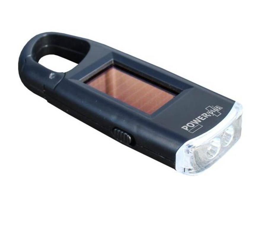 Powerplus Viper led-zaklamp (op zonne-energie met karabijnhaak)