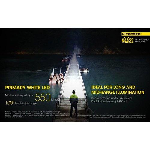 NiteCore NiteCore NU32 LED-hoofdlamp (550 lumen)