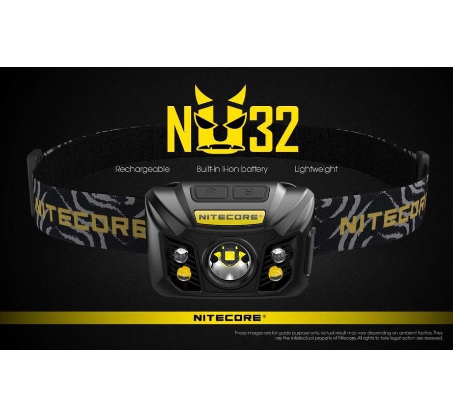 NiteCore NU32 LED-hoofdlamp (550 lumen)
