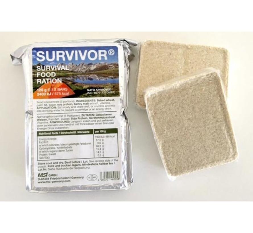Survivor Survival Noodrantsoen 125 gram - 575 calorieën / 2400 kJ