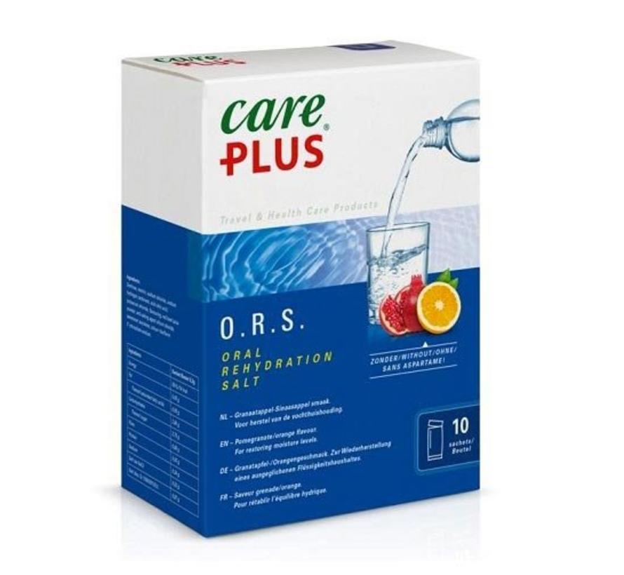 Care Plus O.R.S. Electrolyte (ORS-poeder Granaatappel-Sinaasappel 10 zakjes)