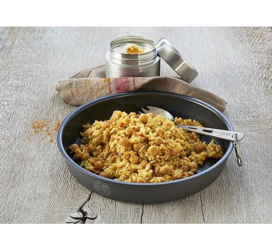 Trek'n Eat Chana Masala Indiase Curry met rijst (vegetarisch - vegan)