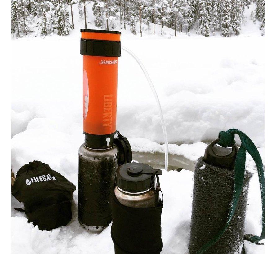 Lifesaver Liberty Waterfilter - filtert ook virussen (drinkfles - zwart)