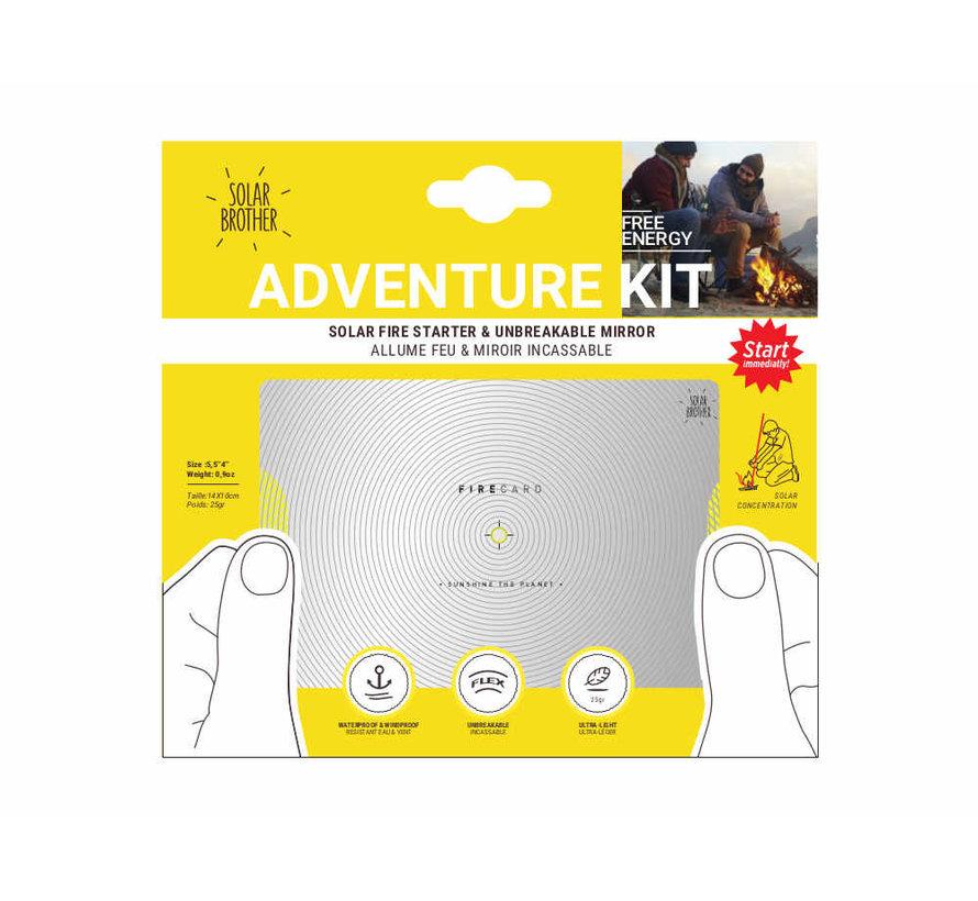 Solar Brother Adventure Kit (Flexibele seinspiegel + Solar Fire Starter)