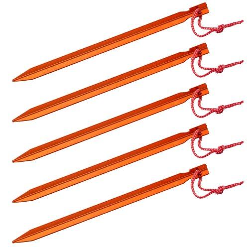 Basic Nature Y-Stake 5 stuks lichtgewicht tentharingen (23cm - oranje)