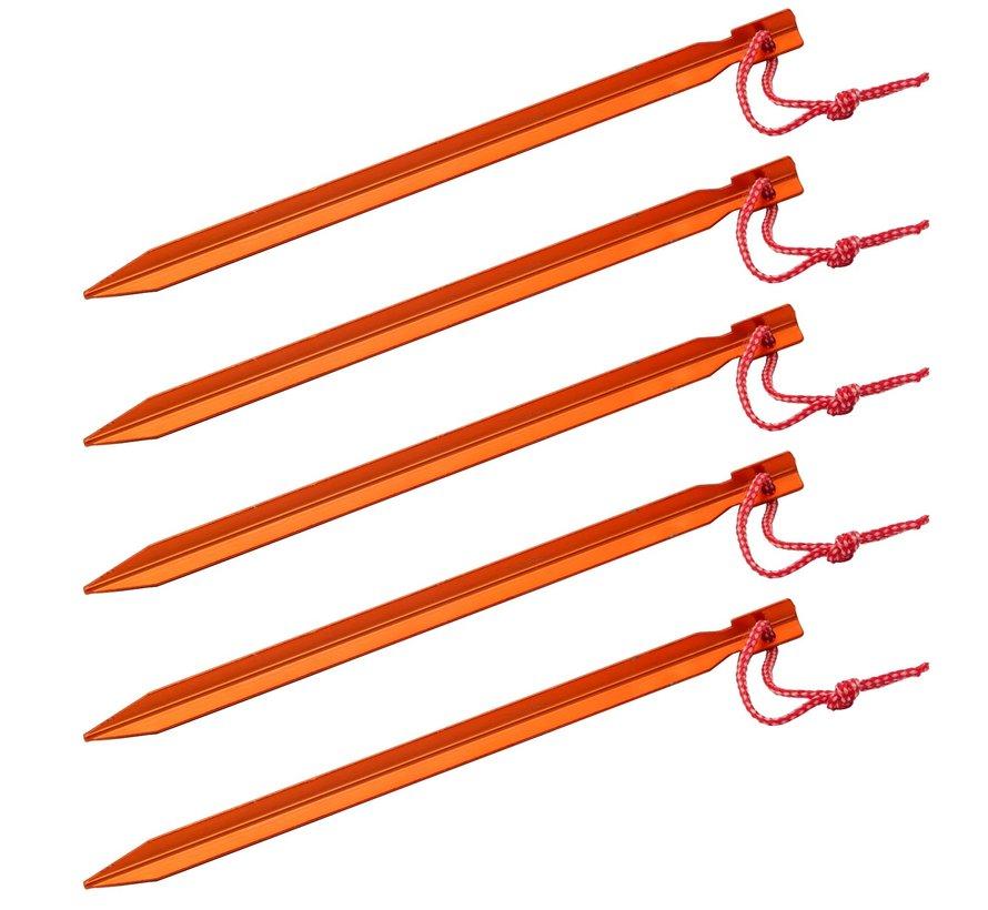 Basic Nature Y-Stake tentharingen (5 stuks - 23cm - oranje)