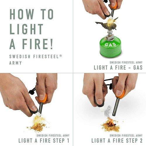 Light-my-Fire Light-my-Fire Firesteel Army 2.0 Zwart (12.000 strikes - firestarter)