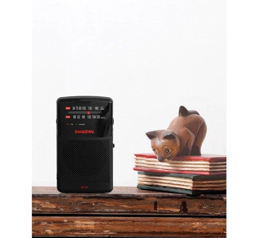 Sangean Pocket 100 draagbare radio SR-35  (FM/AM)