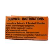 BCB Bushcraft BCB Emergency Printed Survival Bivi Bag (fel-oranje overlevingszak)