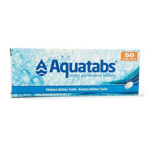 BCB Bushcraft Waterzuiveringstabletten Aquatabs (doosje met 50 tabletten voor 50 liter)