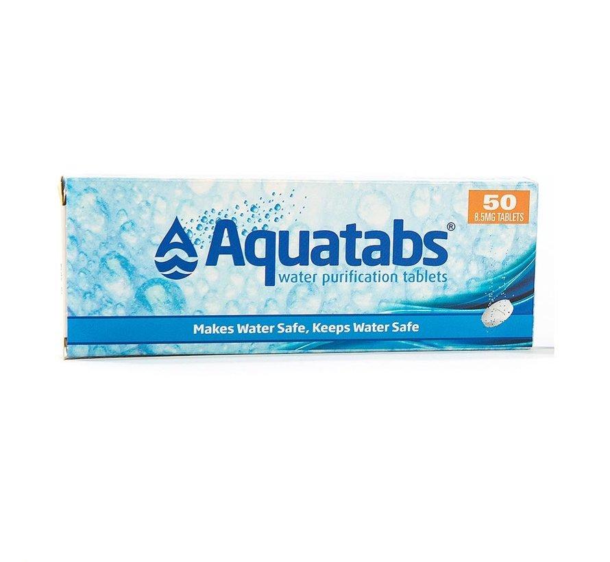 Waterzuiveringstabletten Aquatabs (doosje met 50 tabletten voor 50 liter)