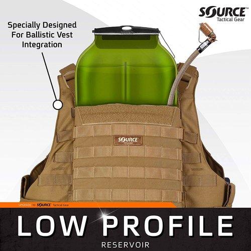 Source Outdoor & Tactical Gear Source WLPS 3L Low Profile Coyote (waterzak drinksysteem)