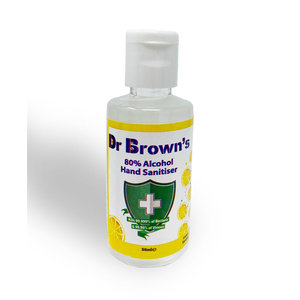 BCB Bushcraft Dr. Browns Handgel Lemon 50ml (hand sanitiser 80% alcohol)