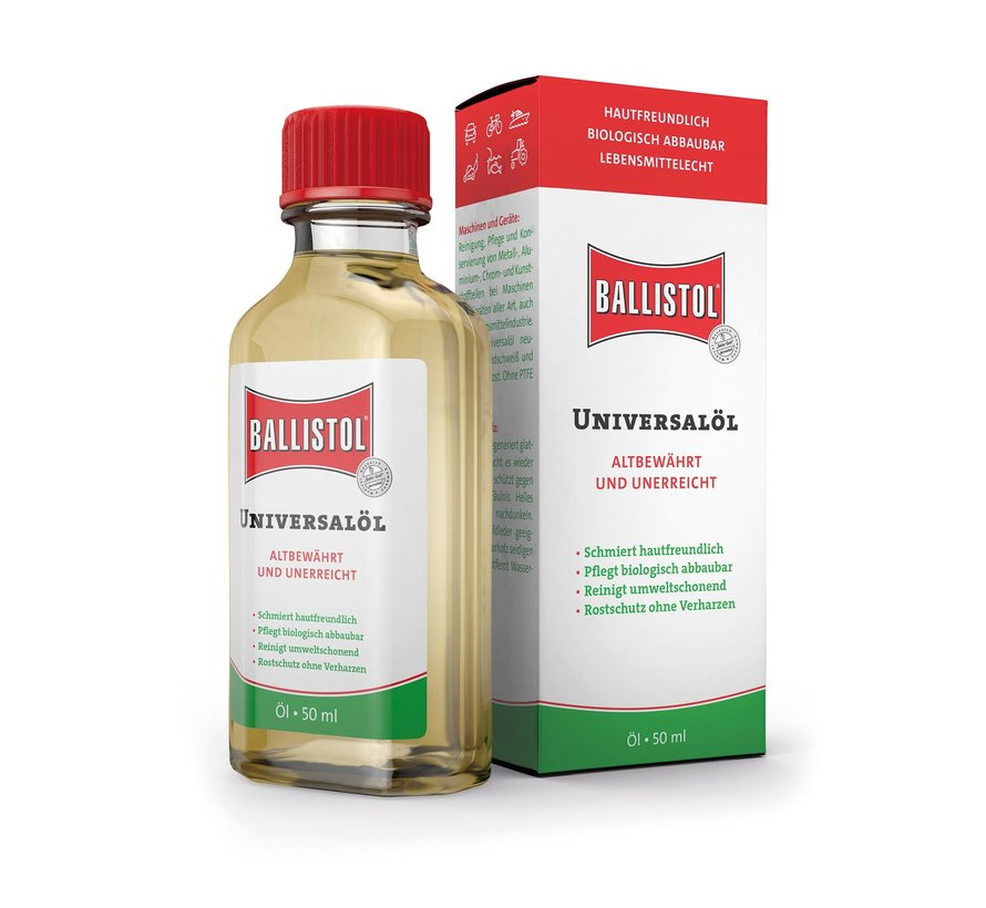 Ballistol Universeel-olie onderhoudsolie (flesje 50 ml)