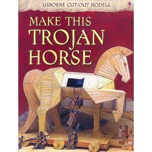 Usborne Bouwplaten Maak zelf een Trojaans Paard (bouwplaat Paard van Troje)