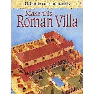 Usborne Bouwplaten Maak zelf een Romeinse villa (bouwplaat)