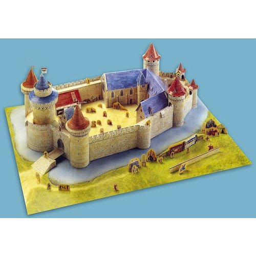 Usborne Bouwplaten Maak zelf een middeleeuwse burcht (bouwplaat)