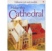 Usborne Bouwplaten Maak zelf een middeleeuwse kathedraal (bouwplaat)