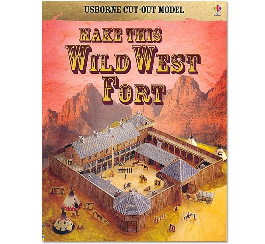 Maak zelf een Wild-West-Fort (bouwplaat)