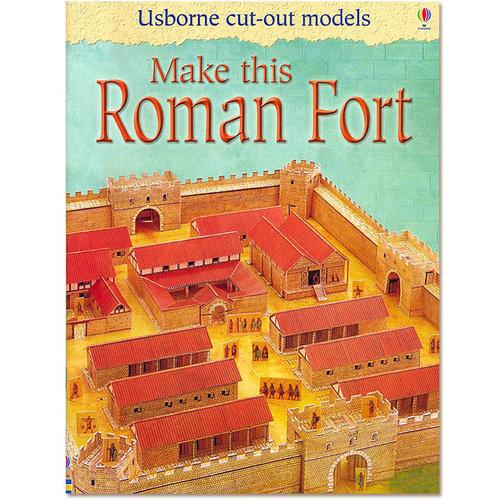 Usborne Bouwplaten Maak zelf een Romeins fort (bouwplaat)