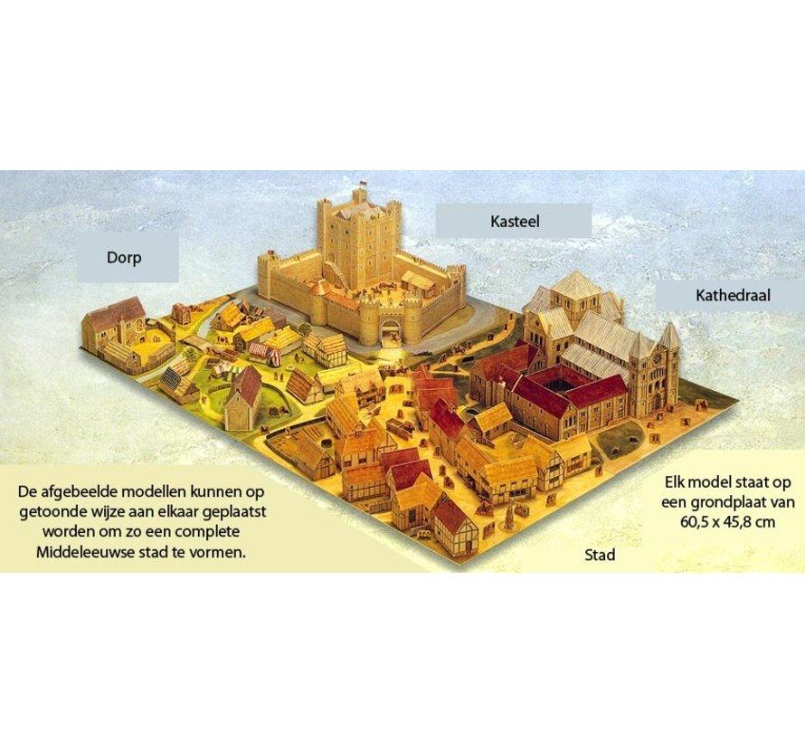 Maak zelf een middeleeuws kasteel (bouwplaat)