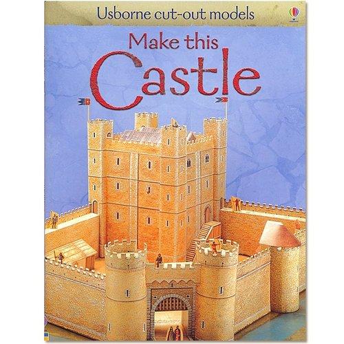 Usborne Bouwplaten Maak zelf een middeleeuws kasteel (bouwplaat)