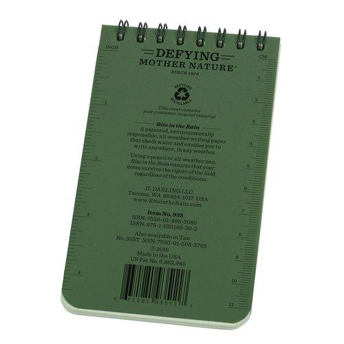 Rite in the Rain Rite in the Rain All-Weather Notebook No. 935 Groen (notitieblokje)