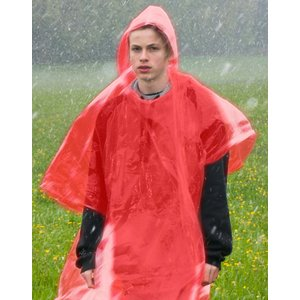 Noodponcho (rood)