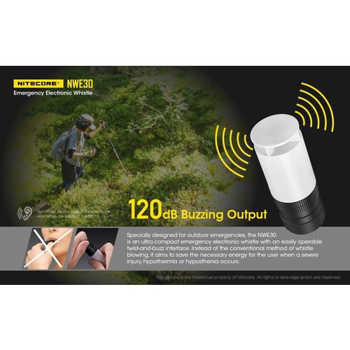 NiteCore Nitecore NWE30 Emergency Electronic Whistle (electronische noodfluit)