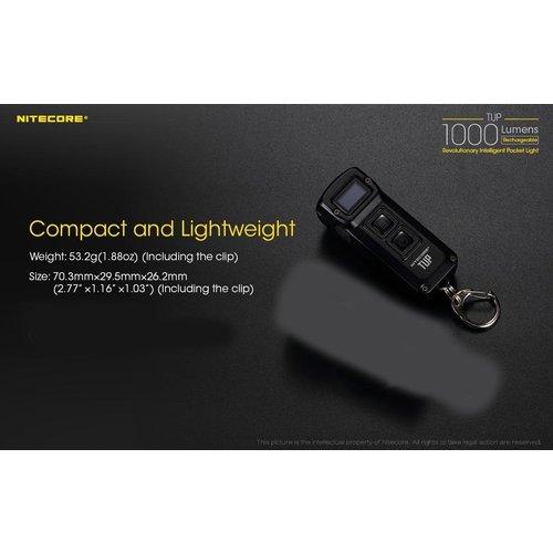 NiteCore Nitecore TUP Sleutelhangerlamp oplaadbaar (1000 lumen)