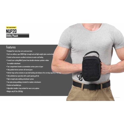 NiteCore Nitecore NUP20 Utility Pouch EDC-tas (zwart)