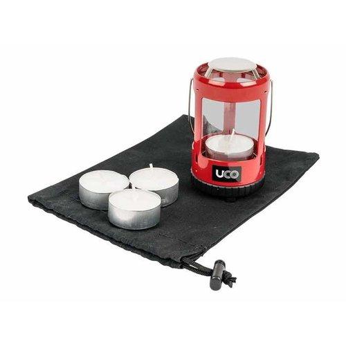 UCO UCO Mini Candle Lantern Kit 2.0 (waxinelicht-lantaarn - rood)