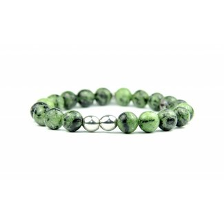 By Shir For Him armband Ruby in Zoisite