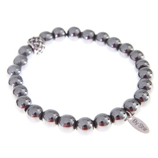 By Shir For Him armband kralen Hematite 10mm